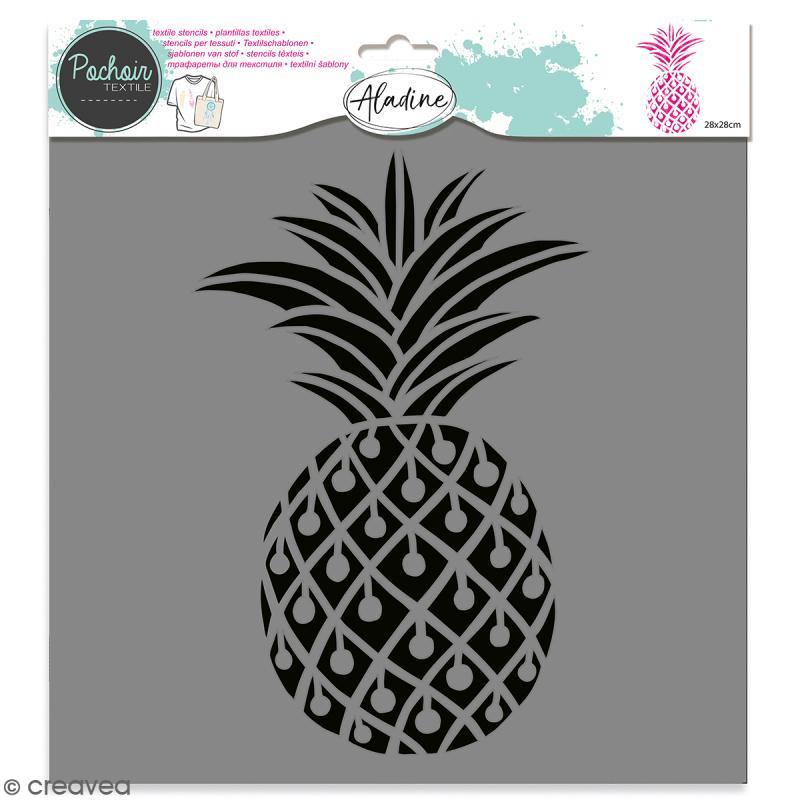 Pochoir textile Aladine - Ananas - 28 x 28 cm - Photo n°1