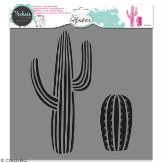 Pochoir textile Aladine - Cactus - 28 x 28 cm