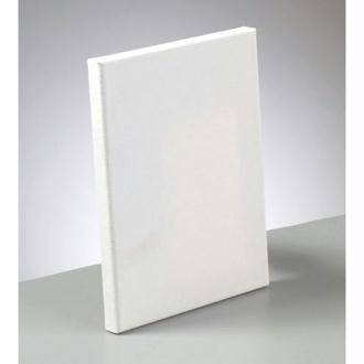Châssis entoilé rectangulaire de 18x24cm, Epaisseur de la toile à peindre 1,7cm, en coton enduit bla