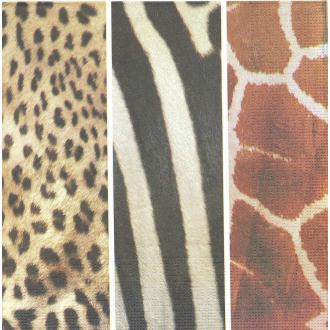 4 Serviettes en papier Afrique Peau d'animaux Format Lunch