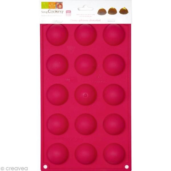 Moule 15 demi-sphères en silicone - Photo n°1