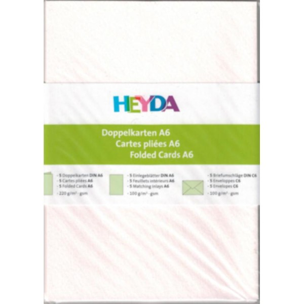 Cartes doubles + Enveloppes - 105 x 148 mm - Blanc - Photo n°1