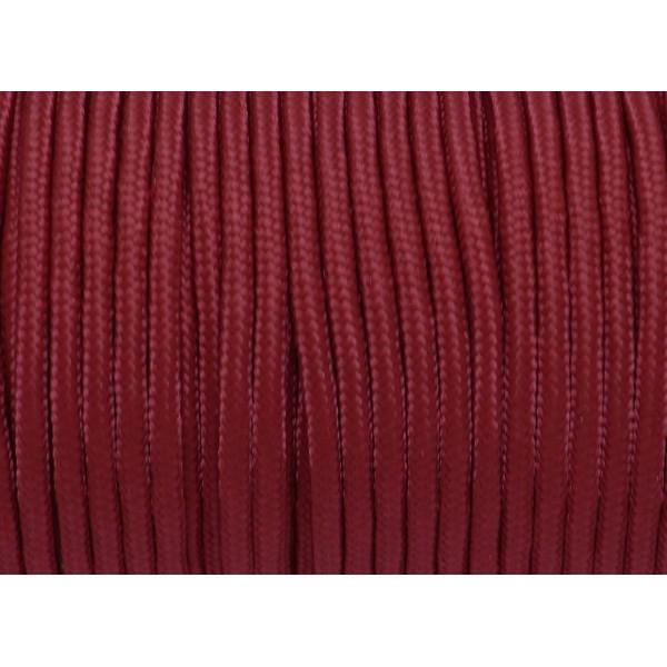 R-2m Paracorde Pour Bracelet 3mm De Couleur Rouge Grenat - Photo n°1