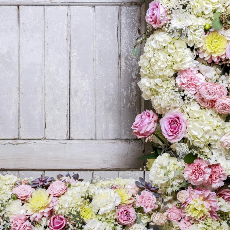 4 serviettes en papier d coupage collage 33 cm bordure de fleurs f100 serviette fleurs creavea. Black Bedroom Furniture Sets. Home Design Ideas