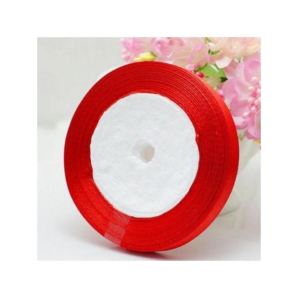 1 Rouleau RUBAN SATIN Rouge 10mm Rouleau de 22m environ Pour vos creation