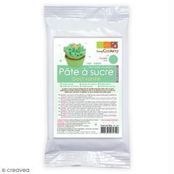 Pâte à sucre Vert clair aromatisée vanille 250 g