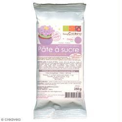 Pâte à sucre Violet parme aromatisée vanille 250 g