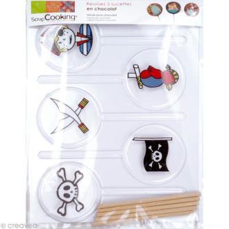 Moule sucette décorée Pirate x 5