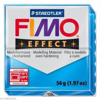 Pâte Fimo Effect Bleu Translucide 374 - 56 gr
