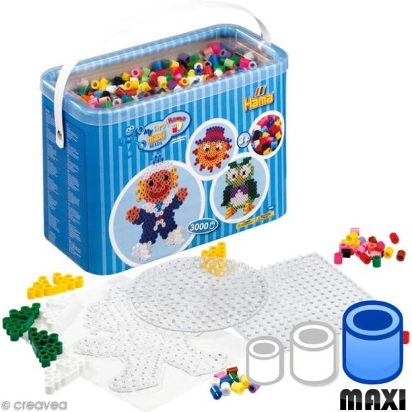 Perles Hama Maxi diam. 1 cm - Coffret Assortiment x 3000 - Photo n°1