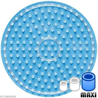 Plaque pour perles Hama Maxi - Rond Transparent 15,5 x 15,5 cm