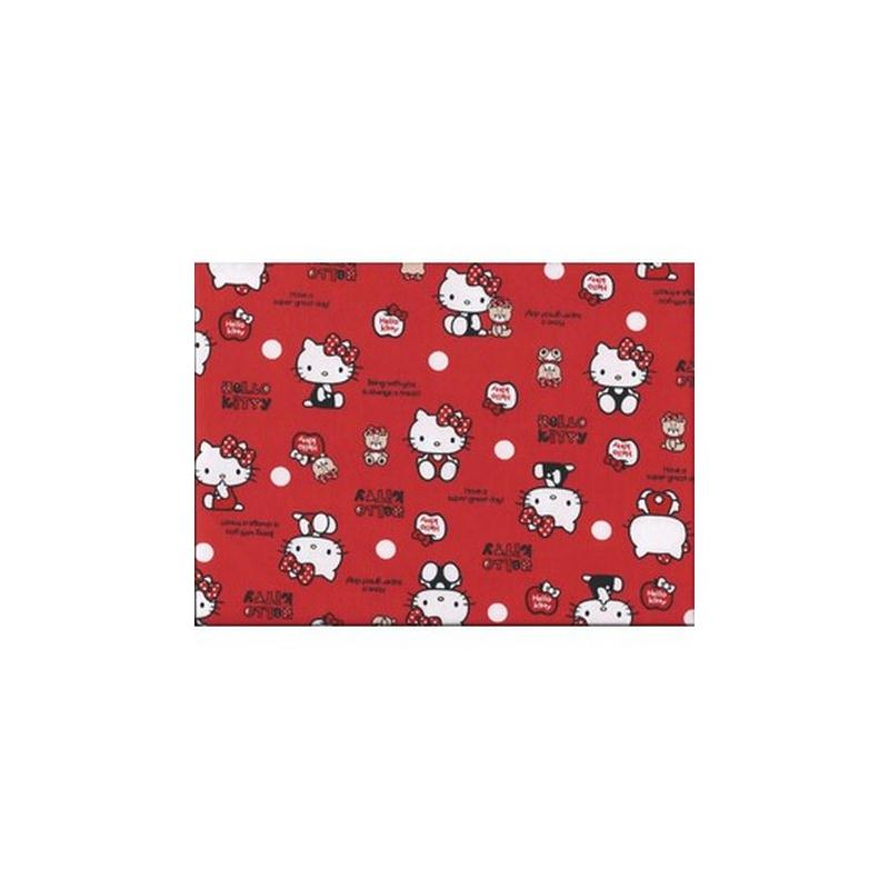 Tissu hello kitty coloris rouge tissu fantaisie creavea - Armoire tissu hello kitty ...