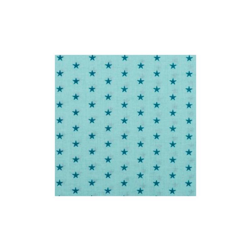 tissu etoiles coloris lagon tissu toile creavea. Black Bedroom Furniture Sets. Home Design Ideas