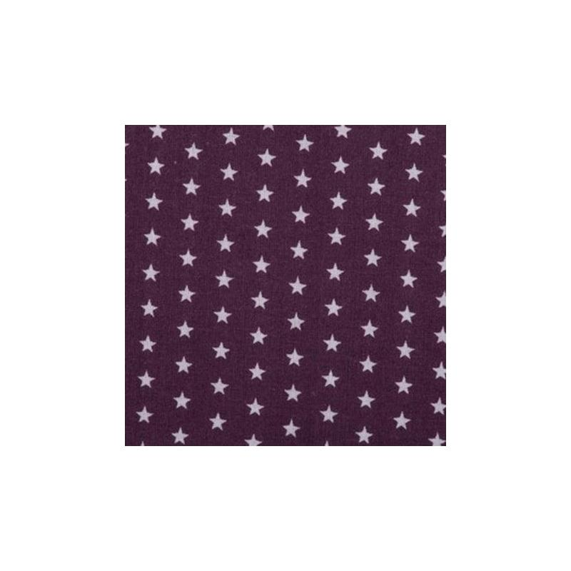 tissu etoiles coloris prune tissu toile creavea. Black Bedroom Furniture Sets. Home Design Ideas