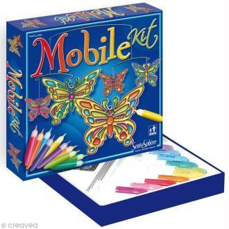 Kit mobile vitrail Papillons