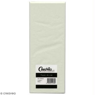 Papier de soie Creavea - Blanc - 50 x 75 cm - 5 feuilles