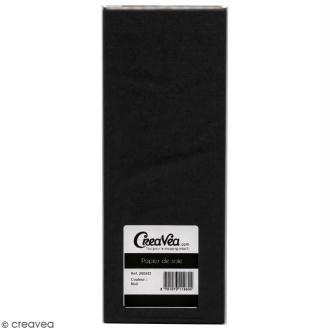 Papier de soie Creavea - Noir - 50 x 75 cm - 5 feuilles