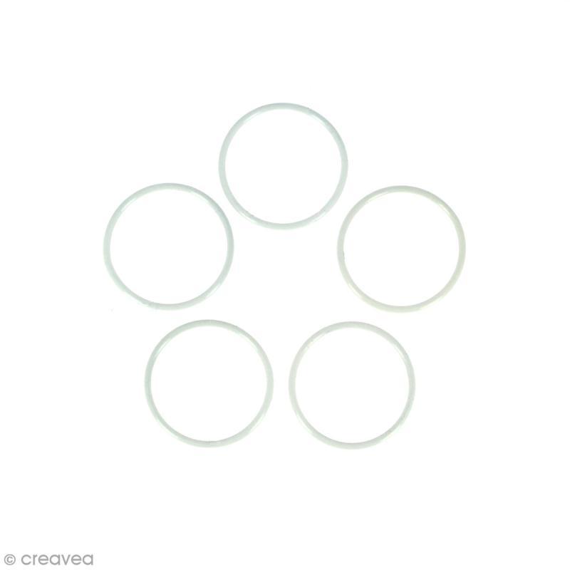 Lot de cercles nus en métal - 5 cm de diamètre - 5 pcs - Photo n°1
