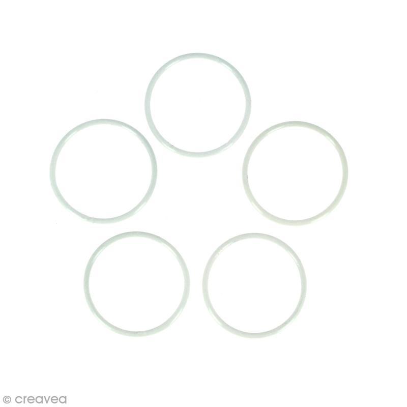 Lot de cercles nus en métal - 7 cm de diamètre - 5 pcs - Photo n°1