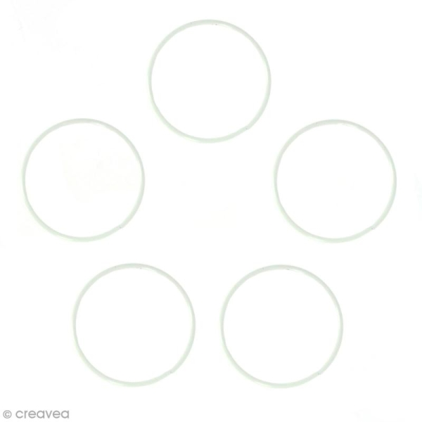 Lot de cercles nus en métal - 10 cm de diamètre - 5 pcs - Photo n°1