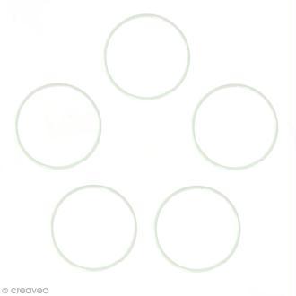 Lot de cercles nus en métal - 10 cm de diamètre - 5 pcs