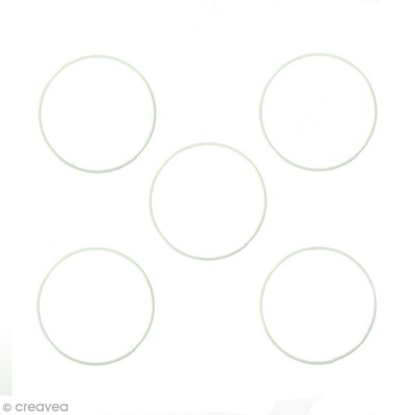 Lot de cercles nus en métal - 12 cm de diamètre - 5 pcs - Photo n°1