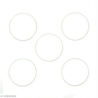 Lot de cercles nus en métal - 12 cm de diamètre - 5 pcs