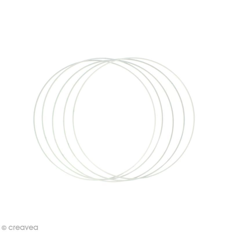 Lot de cercles nus en métal - 18 cm de diamètre - 5 pcs - Photo n°1