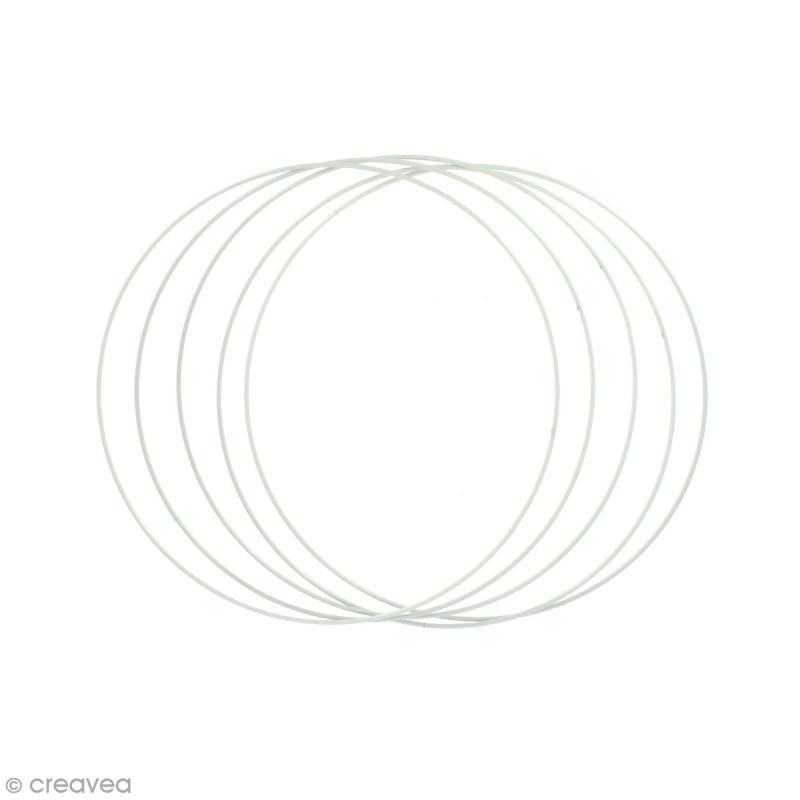 Lot de cercles nus en métal - 20 cm de diamètre - 5 pcs - Photo n°1
