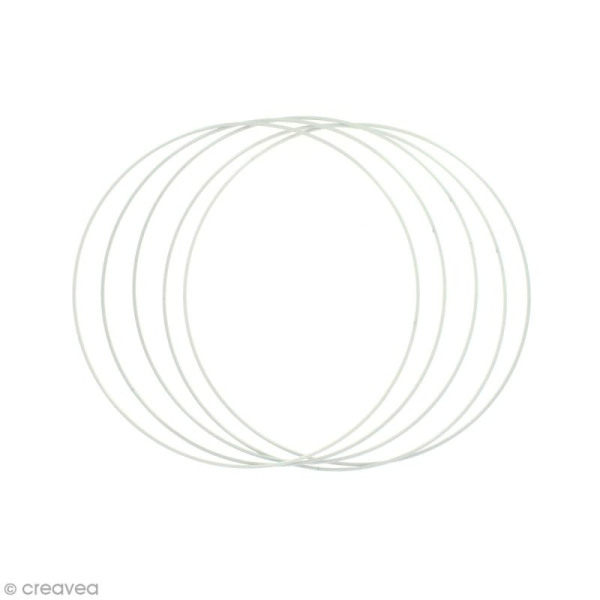 Lot de cercles nus en métal - 20 cm de diamètre - 5 pcs - Photo n°1