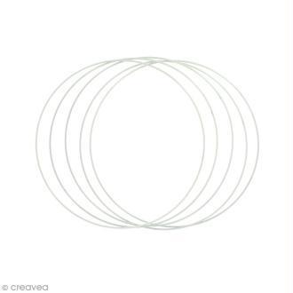 Lot de cercles nus en métal - 20 cm de diamètre - 5 pcs