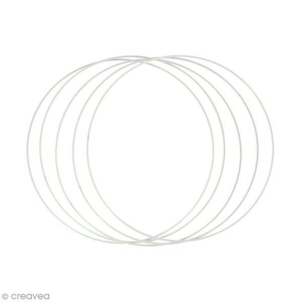Lot de cercles nus en métal - 25 cm de diamètre - 5 pcs - Photo n°1