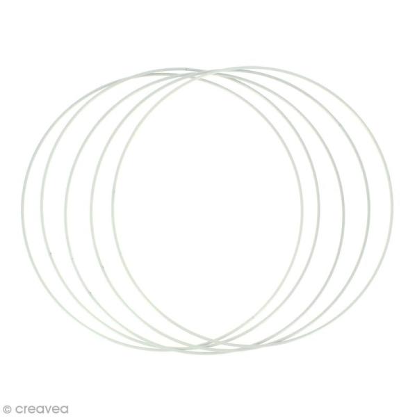 Lot de cercles nus en métal - 30 cm de diamètre - 5 pcs - Photo n°1