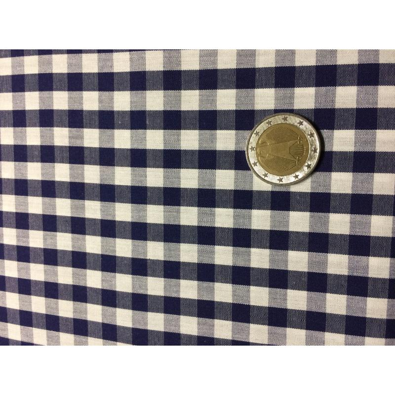 tissu carreaux bleu marine et blanc tissu vichy creavea. Black Bedroom Furniture Sets. Home Design Ideas