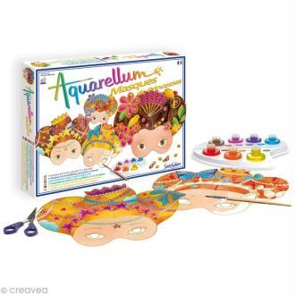 Masque de princesse à décorer Aquarellum x 4