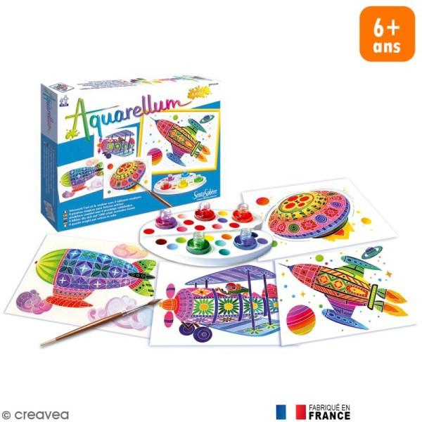 Coffret Tableau à peindre Aquarellum Junior- Dans les Airs x 4 - Photo n°1