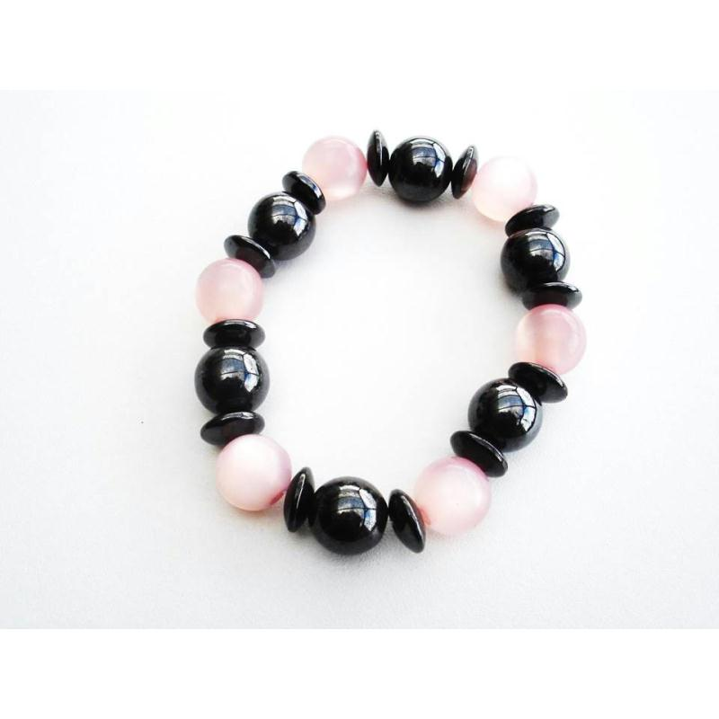 Bracelet magn tique cure de couleur rose bracelet - Bracelet magnetique avis ...