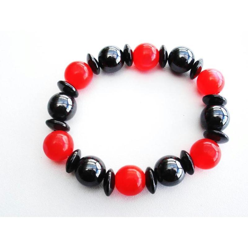 Bracelet magn tique cure de couleur rouge bracelet - Bracelet magnetique avis ...
