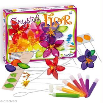 Kit créatif résine Crystal Flor - Fleur x 8