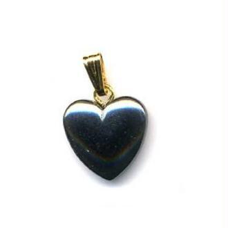 Pendentif coeur Hématite