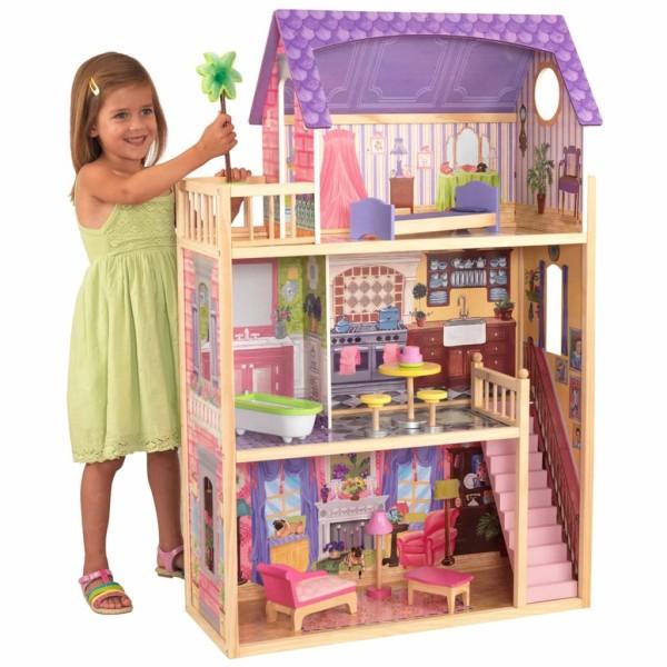 Kidkraft Maison De Poupée À 3 Étages Kayla 73,7 X 33,7 X 114,3cm 65092 - Photo n°2