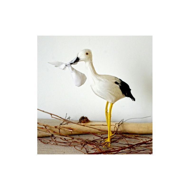 oiseau cigogne artificielle de d coration accessoires. Black Bedroom Furniture Sets. Home Design Ideas