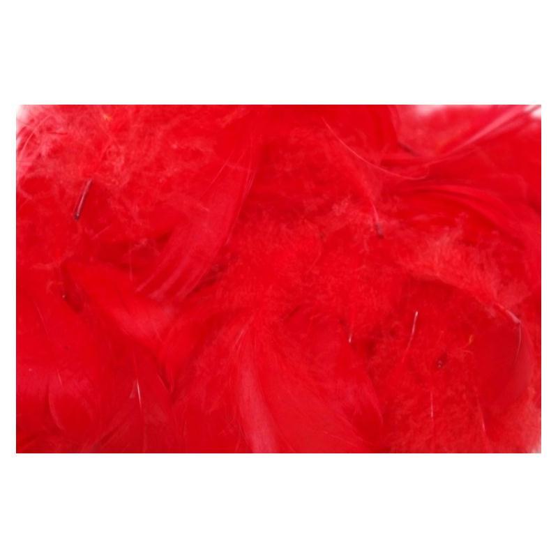 Plumes color es de d coration rouge plumes creavea - Service de table rouge ...