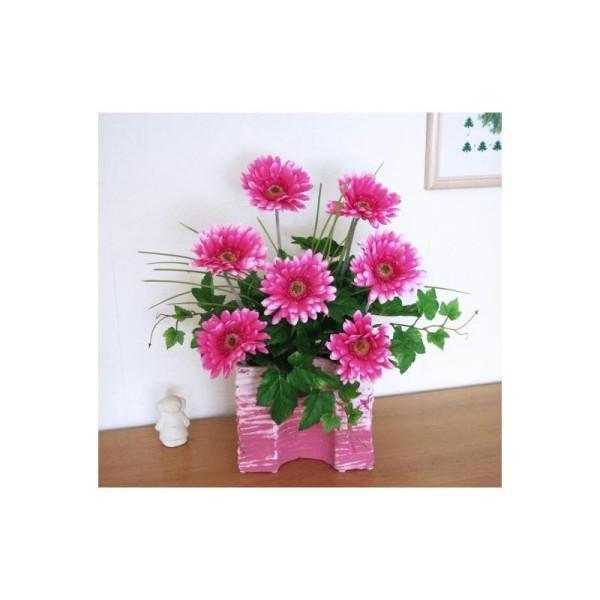 composition florale artificielle h45cm gerberas. Black Bedroom Furniture Sets. Home Design Ideas