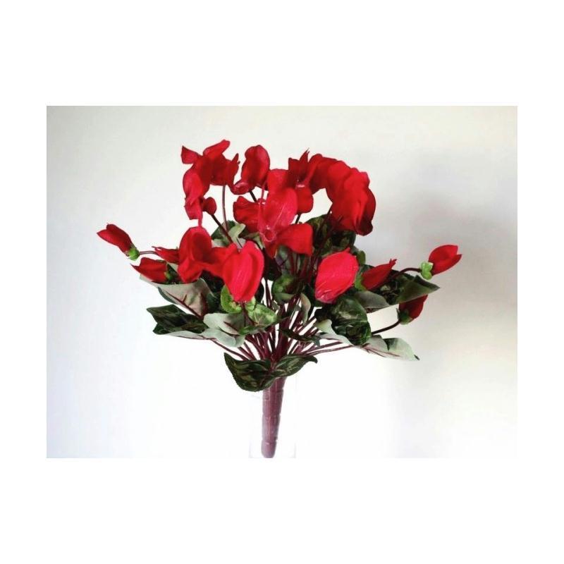 cyclamen 21 fleurs artificielles rouges fleurs artificielles cimeti re et ext rieures creavea. Black Bedroom Furniture Sets. Home Design Ideas