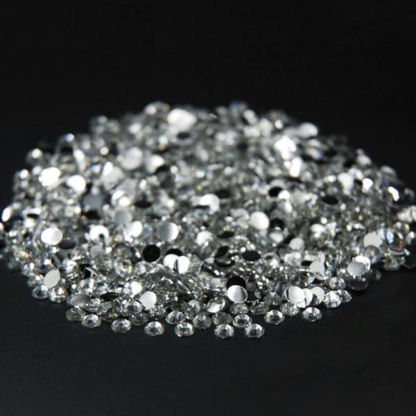 500 Strass 1,5mm Argenté crystal a coller pour vos creation, decoration - Photo n°2