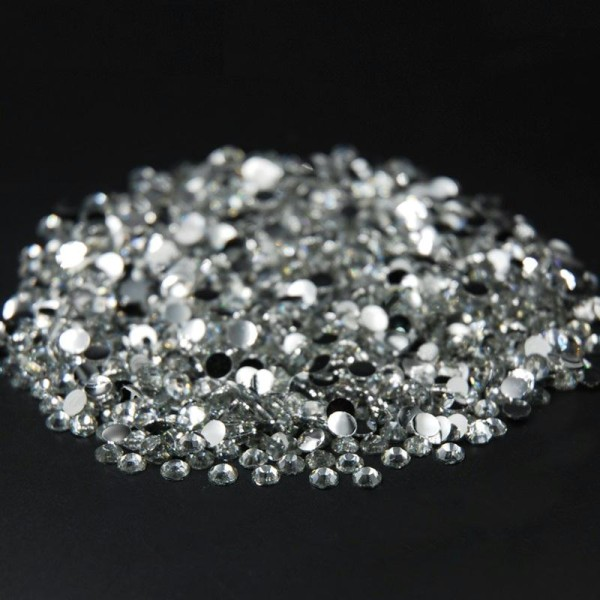 1000 Strass 1,5mm Argenté crystal a coller pour vos creation, decoration - Photo n°1