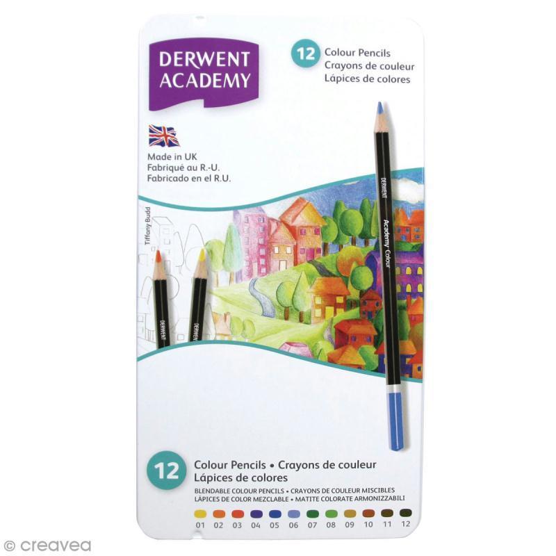 Boîte de crayons de couleur - Derwent Academy - 12 pcs - Photo n°1
