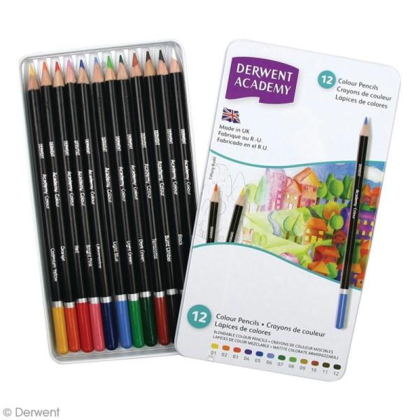 Boîte de crayons de couleur - Derwent Academy - 12 pcs - Photo n°2