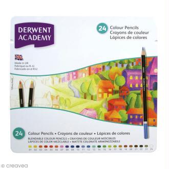 Boîte de crayons de couleur - Derwent Academy - 24 pcs